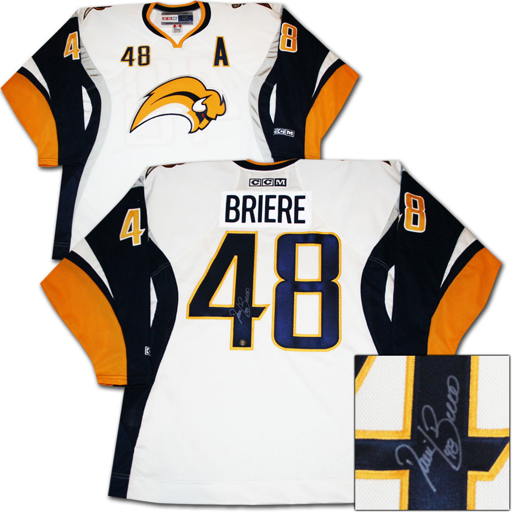 d73f7b014 ... inexpensive daniel briere autographed buffalo sabres jersey 3dd2a a25bd