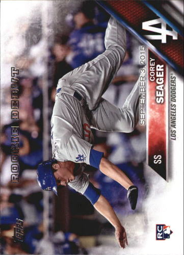 Photo of 2016 Topps Update #US279 Corey Seager Rookie Card