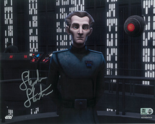 Stephen Stanton as Tarkin 8x10 Autographed in Silver Ink Photo