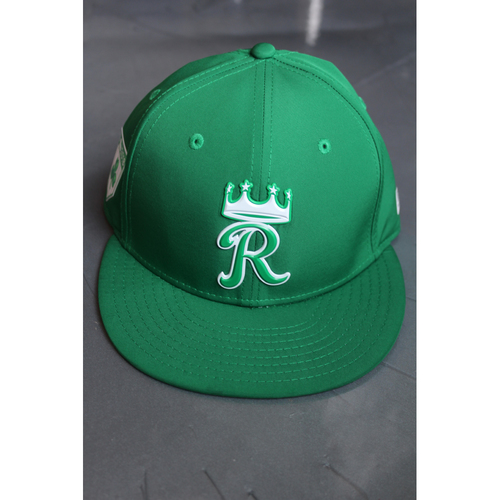 Photo of Game-Used St. Patrick's Day Cap: Miguel Almonte (Size 7 1/8 - TEX at KC - 9/29/17)