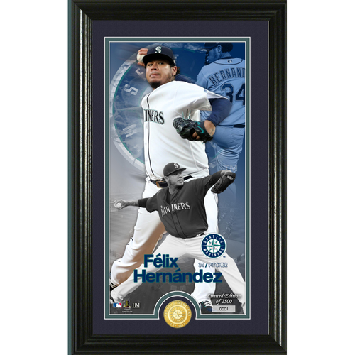 Photo of Felix Hernandez Supreme Bronze Coin Photo Mint