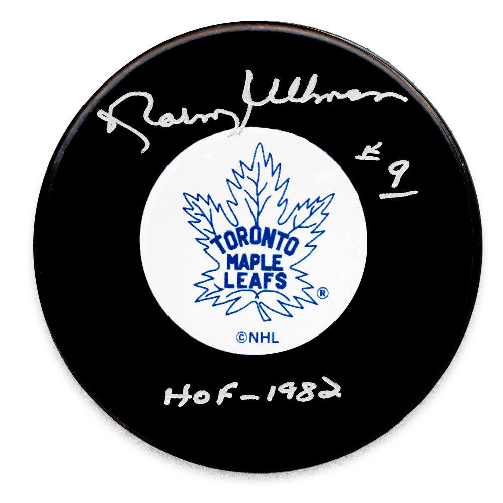 Norm Ullman Toronto Maple Leafs HOF Autographed Puck