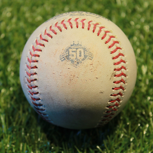 Photo of Game-Used Baseball: Robbie Grossman 441st Career Hit and 187th Career RBI (9/16/18 - BAL @ KC)