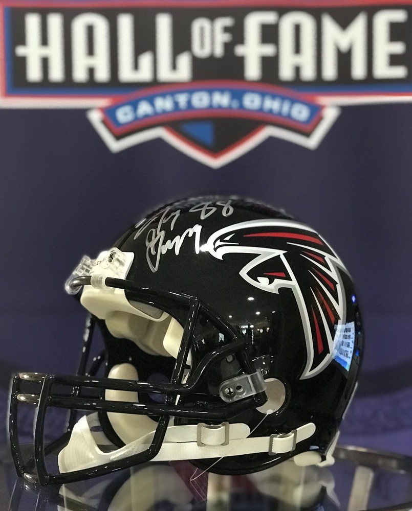 Tony Gonzalez signed Falcons Proline Helmet