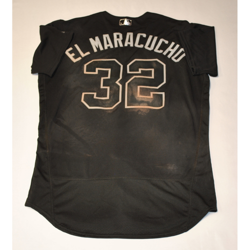 "Photo of Elias ""EL MARACUCHO"" Diaz Pittsburgh Pirates Game-Used 2019 Players' Weekend Jersey"