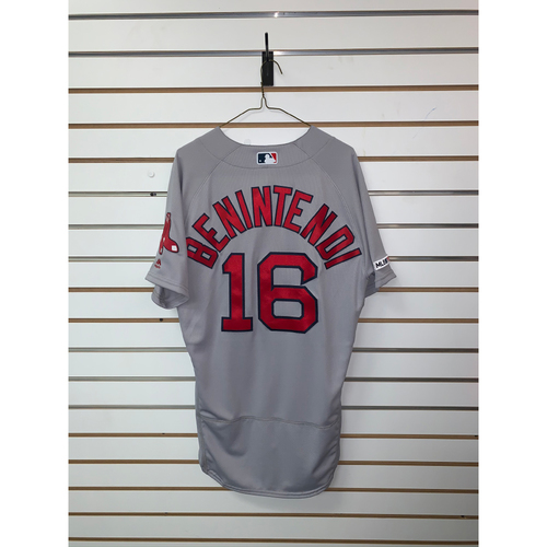 Photo of Andrew Benintendi Team-Issued 2019 Road Jersey