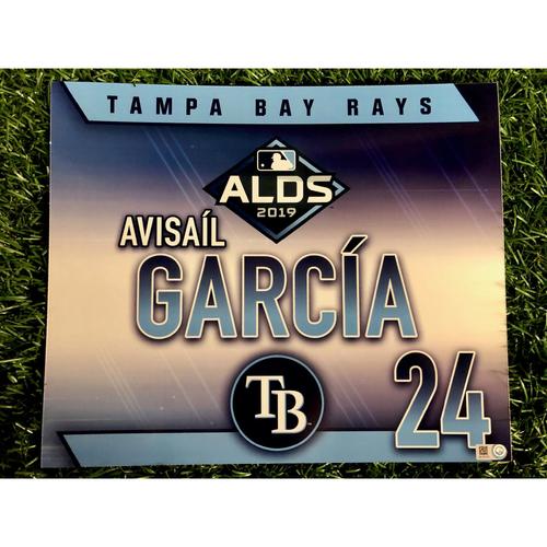 Photo of Game Used ALDS Locker Tag: Avisail Garcia - October 7, 2019 v HOU