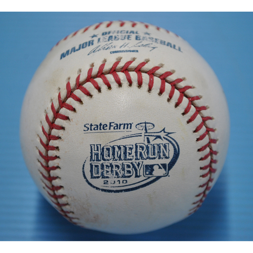 Photo of Game-Used Baseball - 2010 Home Run Derby - David Ortiz - Round 1, Out 9