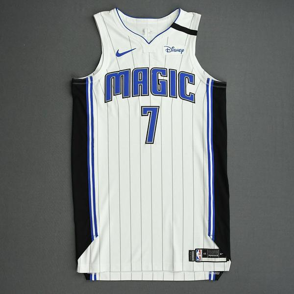 Image of Michael Carter-Williams - Orlando Magic - Game-Worn Association Edition Jersey - 2019-20 NBA Season Restart with Social Justice Message