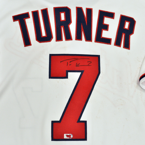 Photo of Washington Nationals Philanthropies Jerseys Off Their Back Auction - Trea Turner - Autographed Game-Used Jersey - Size 44