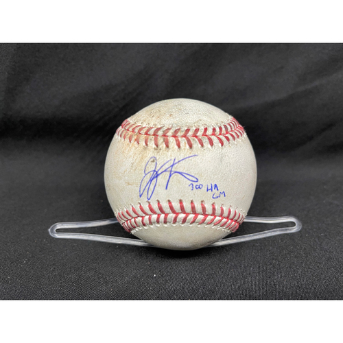 Photo of Joey Votto *Game-Used, Autographed & Inscribed* Baseball from 300th Career HR Game - Jose De Leon to Eric Sogard (Walk); to Tony Wolters (Ball in Dirt)  -- 04/30/2021 - CHC vs. CIN - Top 7