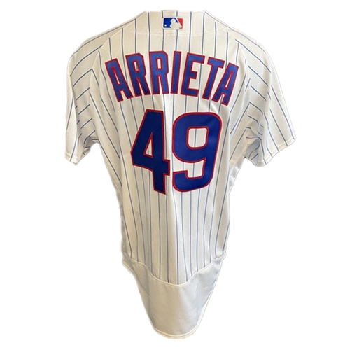 Photo of Jake Arrieta Game-Used Jersey -- Padres vs. Cubs -- 6/2/21 -- Features ALS Patch -- Size 48C +1B
