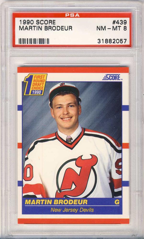 1990 91 Score 439 Martin Brodeur New Jersey Devils Graded Rookie