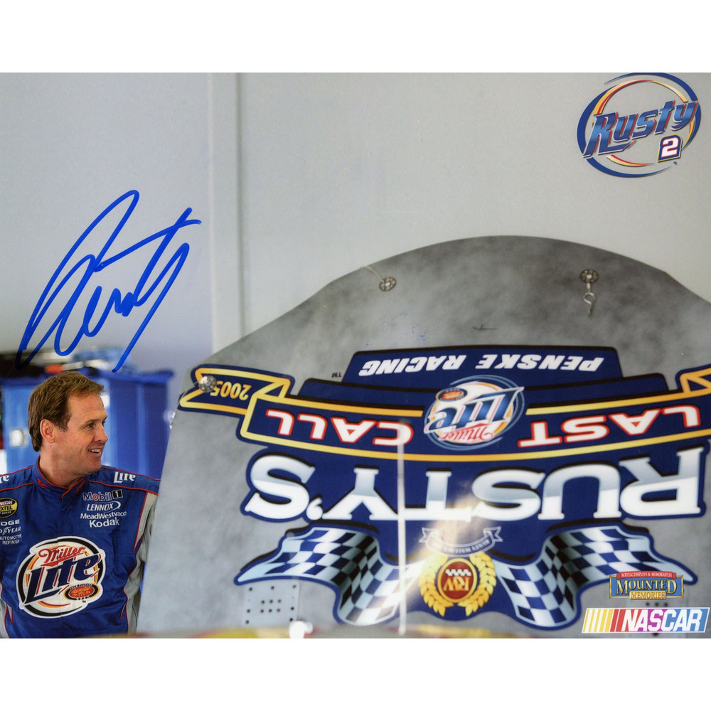 Rusty Wallace Autograph 8x10 Last Call Photo