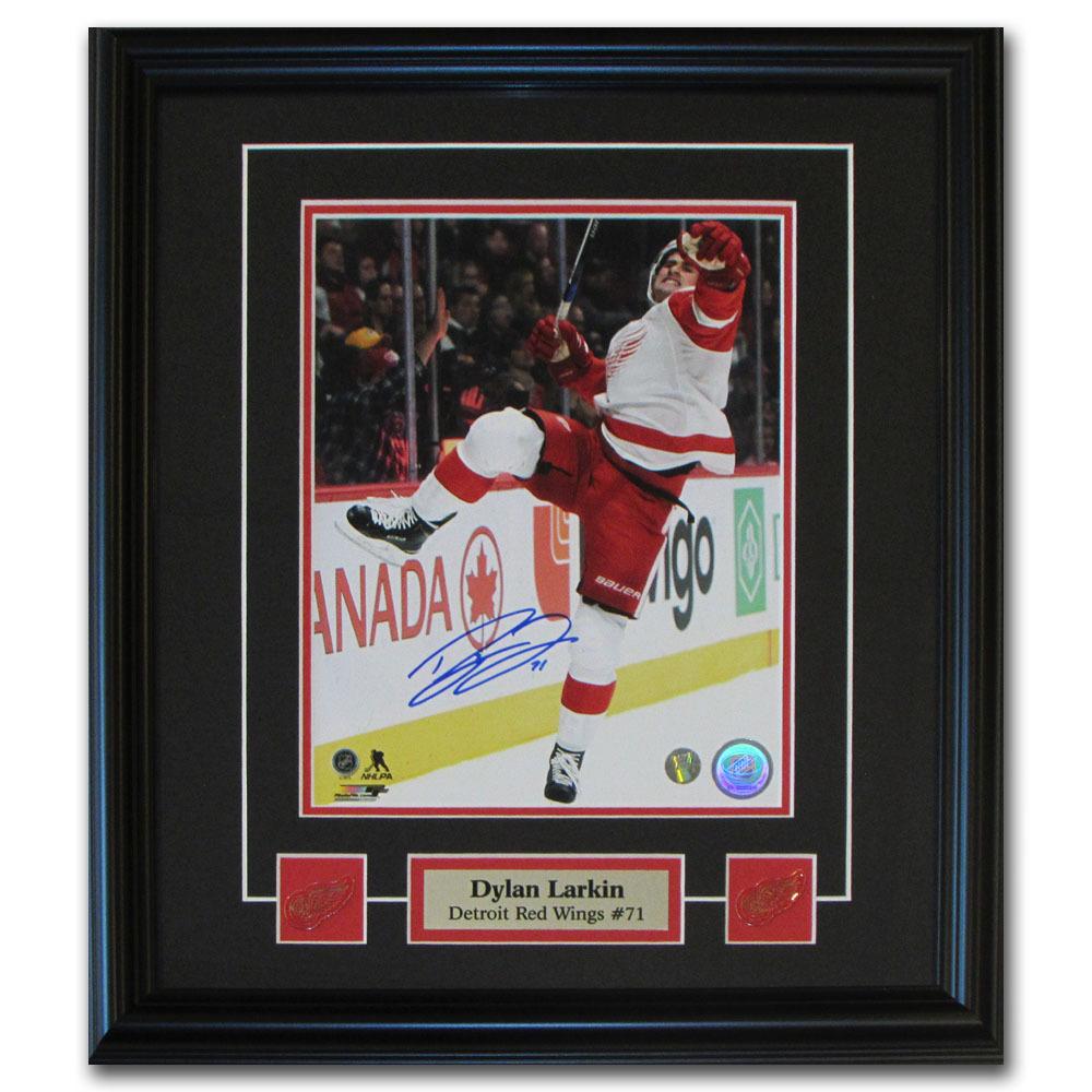 Dylan Larkin Autographed Detroit Red Wings Framed 8X10 Photo