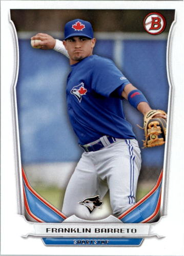 Photo of 2014 Bowman Draft Top Prospects #TP78 Franklin Barreto -- Ranked #66 of MLB's Top 100 Prospects