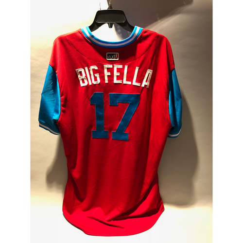 "Photo of Philadelphia Phillies 2018 Little League Classic Game-Used Jersey - Rhys ""Big Fella"" Hoskins - 8/19/2018"