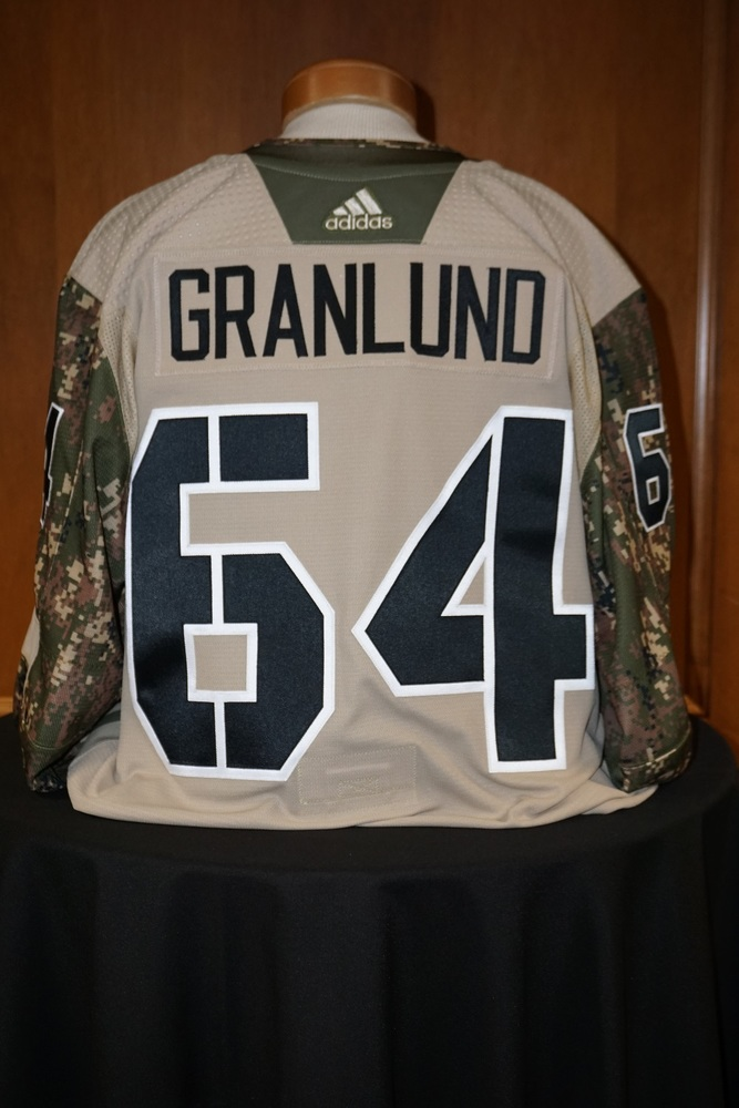 Mikael Granlund Minnesota Wild  2018-19 Camouflage Warm-Up Jersey (Size 56)