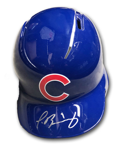 Photo of Javier Baez Autographed Batting Helmet