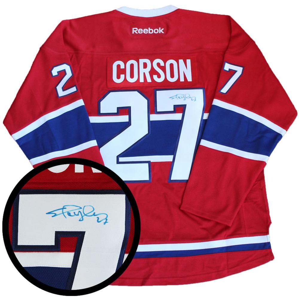 Shayne Corson Signed Jersey Canadiens Replica Red Reebok 2016-2017 ... 579619344