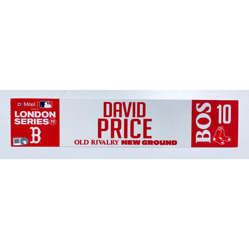 2019 London Series - Game Used Locker Tag - David Price, New York Yankees vs Boston Red Sox - 6/30/2019
