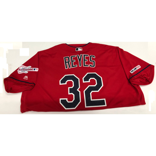 Photo of Franmil Reyes Game Used Jersey, Indians Debut 8/1/19