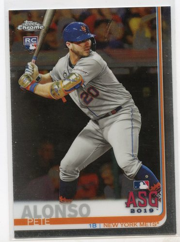 Photo of 2019 Topps Chrome Update #86 Pete Alonso All Star