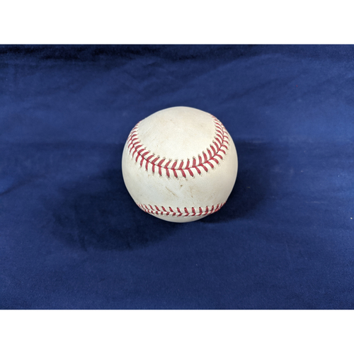 Photo of Game Used Baseball: Pitcher: Tim Mayza, Batter: Corey Seager - Single - Bot 6 - 8-20-2019 vs. TOR