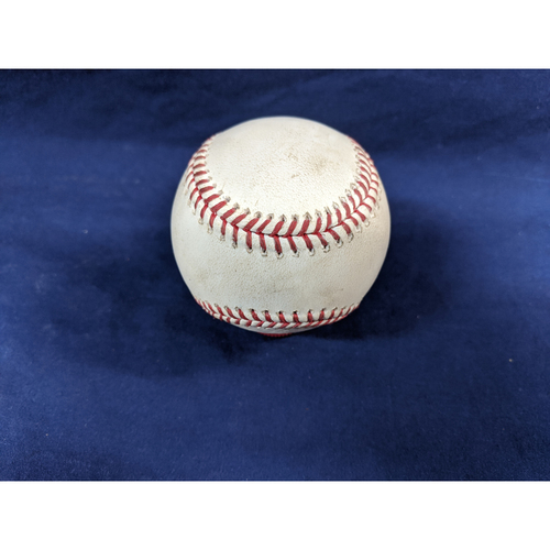 Photo of Game Used Baseball: Pitcher: Walker Buehler, Batter: Raimel Tapia - Fly Out - Top 1 - 9-21-2019 vs. COL