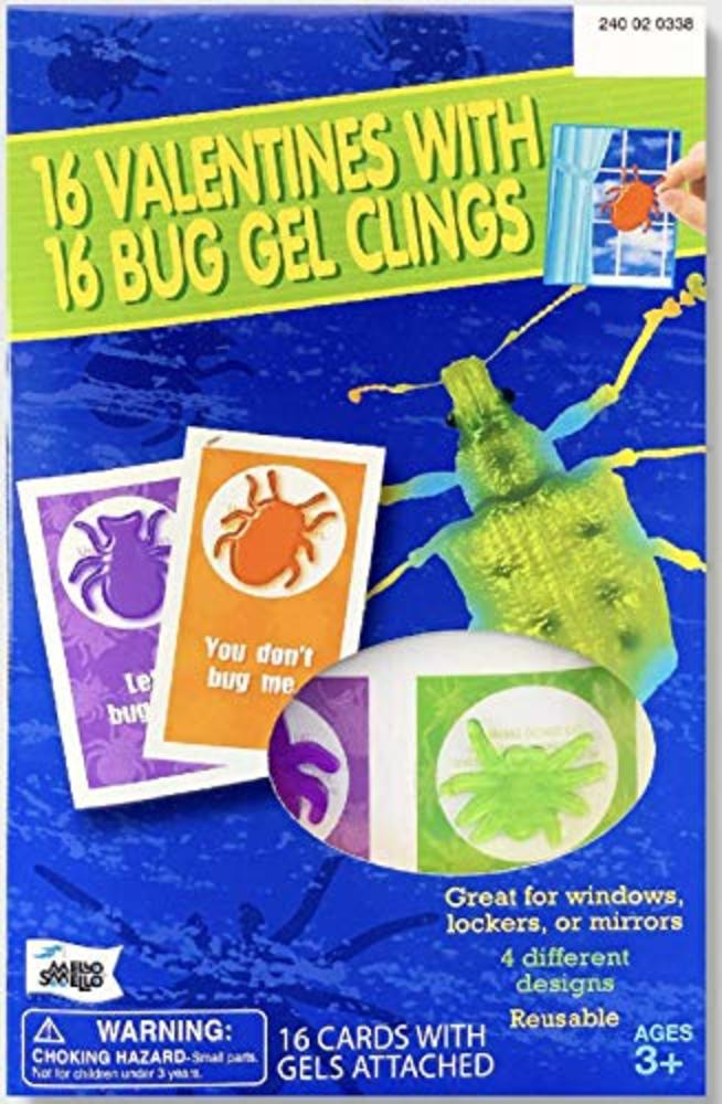 Photo of 16 Valentines With 16 Bug Gel Clings
