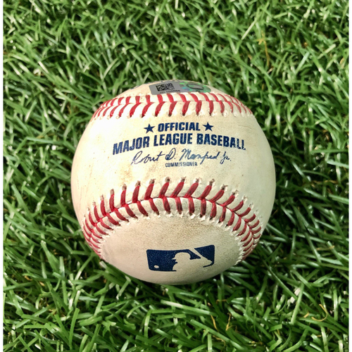 Game Used Baseball: Cavan Biggio double off Aaron Loup - Josh Fleming MLB Debut - August 23, 2020 v TOR
