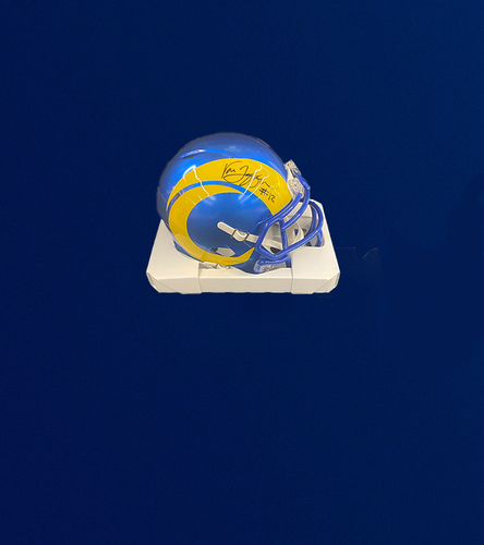 Photo of Van Jefferson Signed Mini-Helmet