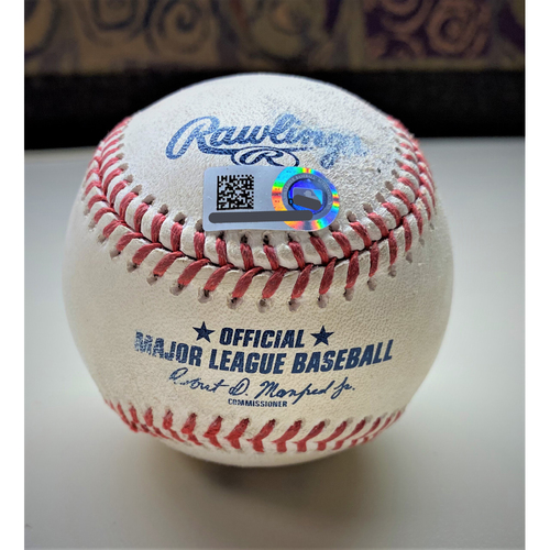 Photo of Game-Used Baseball:  Willi Castro Detroit Tigers 3-Run Home Run hit off Shane Bieber (MLB AUTHENTICATED)