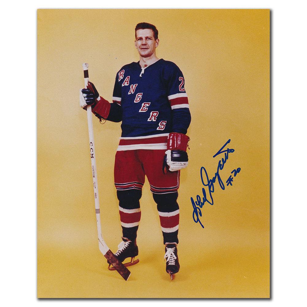 Phil Goyette New York Rangers Autographed 8x10