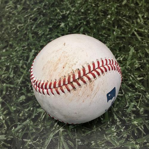 Photo of Game-Used Baseball COL@MIL 06/26/21 - Jhoulys Chacin - Kolten Wong: Single