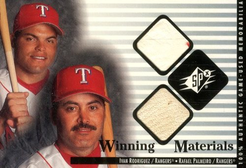 Photo of 2000 SPx Winning Materials Update #IRRP I.Rodriguez/R.Palmeiro