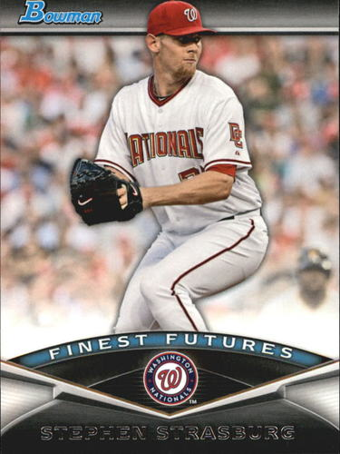 Photo of 2011 Bowman Finest Futures #FF23 Stephen Strasburg -- Nationals post-season
