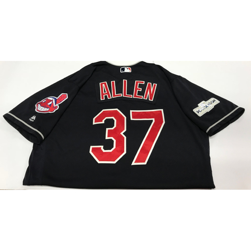 Photo of Cody Allen Team-Issued 2017 Postseason Alternate Jersey
