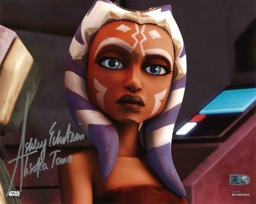 Ashley Eckstein As Ahsoka Tano  8X10 Autographed IN 'SILVER' INK PHOTO