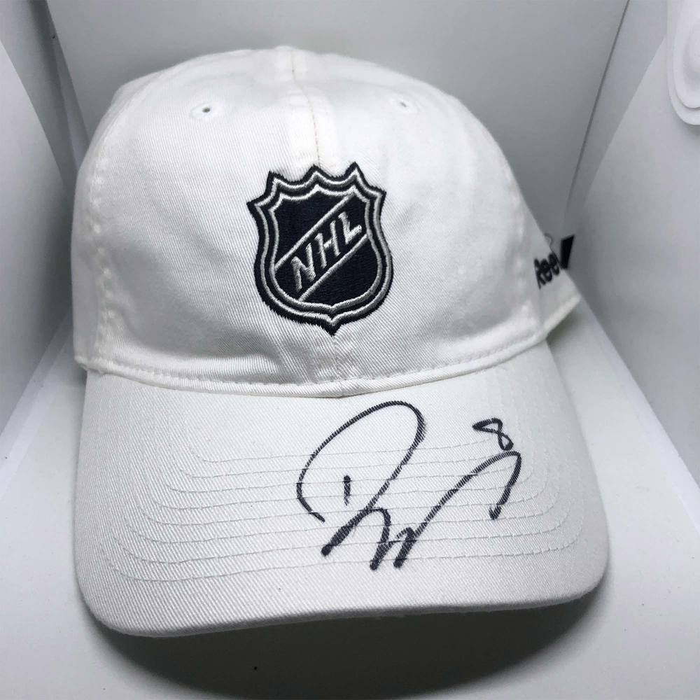 NHL Logo Rebook Hat Signed by #8 Drew Doughty