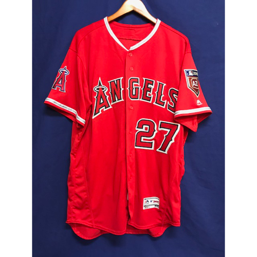Photo of Mike Trout Game-Used 2018 Spring Training Jersey from Freeway Series