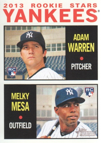 Photo of 2013 Topps Heritage #281 Adam Warren RC/Melky Mesa RC