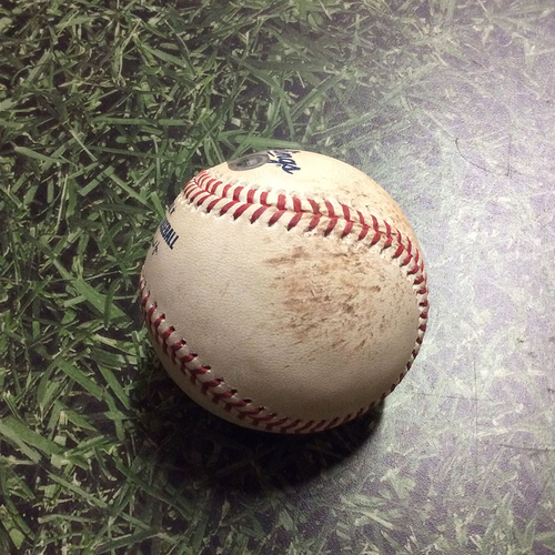 Photo of Game-Used Baseball STL@MIL 03/31/19 - Michael Wacha - Christian Yelich: Ball