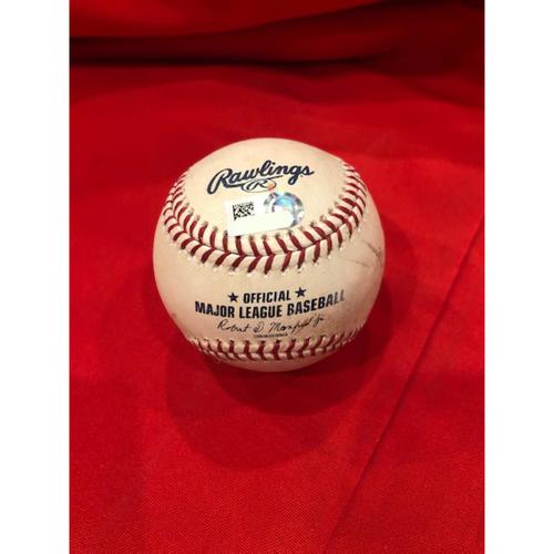 Yasiel Puig -- 5th Home Run of 2019 Season -- Player Collected Baseball -- SF vs. CIN on May 4, 2019