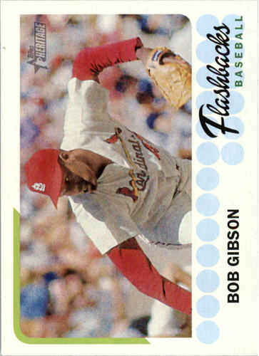 Photo of 2016 Topps Heritage Baseball Flashbacks #BFBG Bob Gibson