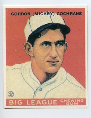 Photo of 1933 Goudey '86 Reprints #76 Mickey Cochrane