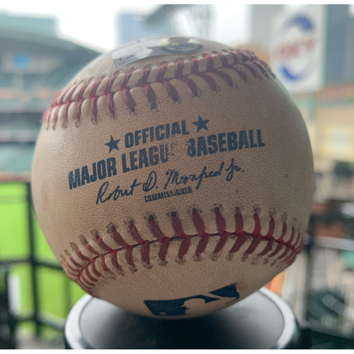 Photo of Houston Astros Game-Used Baseball: Pitcher: Jose Urquidy, Batter: Austin Nola - Home Run - Top 7 - 9/5/19 vs. SEA