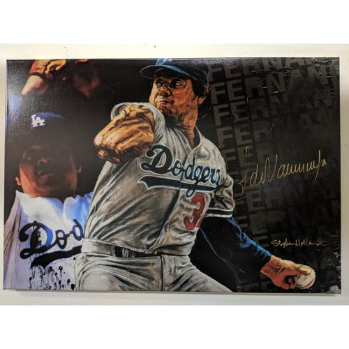 Photo of Fernando Valenzuela Autographed Stephen Holland Giclée Canvas