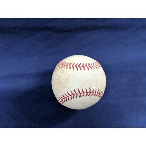 Photo of Game Used Baseball: Pitcher: Hyun-Jin Ryu, Batter: Nolan Arenado - Single - Top 4 - 9-22-2019 vs. COL