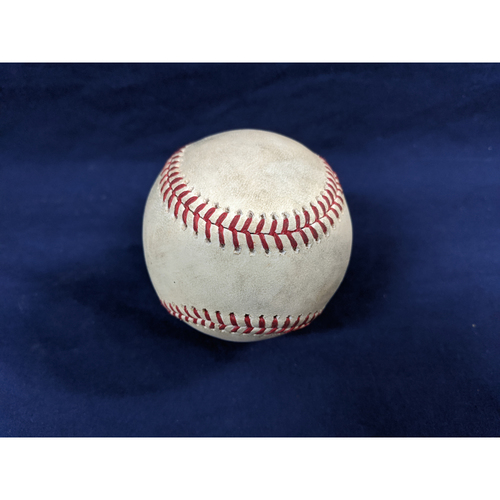 Photo of Game Used Baseball: Pitcher: Clayton Kershaw, Batters: Manuel Margot (Double), Brett Kennedy (SAC Bunt), Wil Myers (Single), Eric Hosmer (Ball in Dirt) - Top 3 - 8-25-2018 vs. SD
